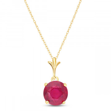 Ruby Drop Pendant Necklace 2.25 ct in 9ct Gold