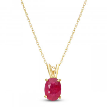 Ruby Oval Pendant Necklace 1 ct in 9ct Gold