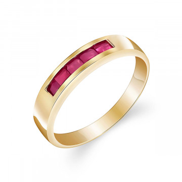 Ruby Princess Prestige Ring 0.6 ctw in 9ct Gold