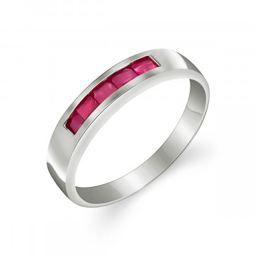 Ruby Princess Prestige Ring 0.6 ctw in 9ct White Gold