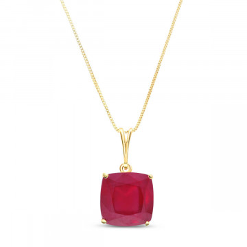 Ruby Rococo Pendant Necklace 4.7 ct in 9ct Gold
