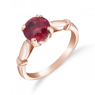 Ruby Solitaire Ring 2 ct in 9ct Rose Gold
