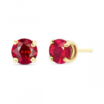 Ruby Stud Earrings 0.95 ctw in 9ct Gold