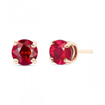 Ruby Stud Earrings 0.95 ctw in 9ct Rose Gold