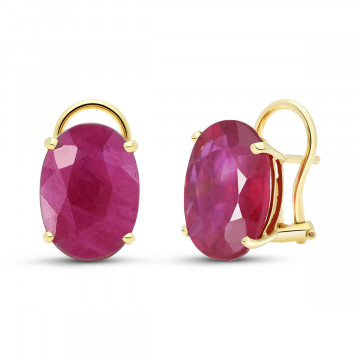 Ruby Stud Earrings 15 ctw in 9ct Gold