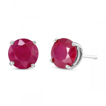Ruby Stud Earrings 4.5 ctw in 9ct White Gold
