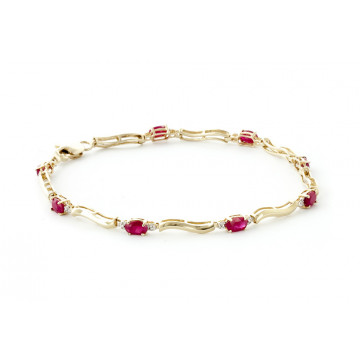 Ruby Tennis Bracelet 2.01 ctw in 9ct Gold