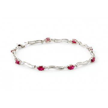 Ruby Tennis Bracelet 2.01 ctw in 9ct White Gold