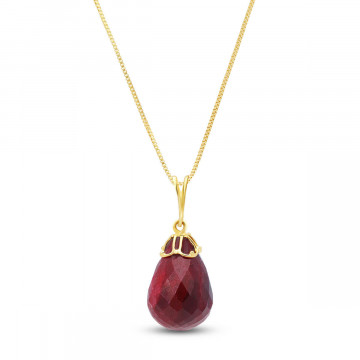 Ruby Tiara Pendant Necklace 14.8 ct in 9ct Gold