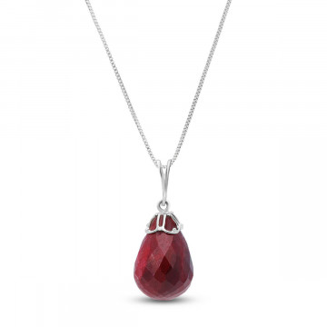 Ruby Tiara Pendant Necklace 14.8 ct in 9ct White Gold