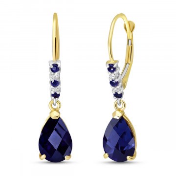 Sapphire & Diamond Belle Drop Earrings in 9ct Gold