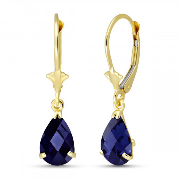 Sapphire Belle Drop Earrings 3 ctw in 9ct Gold