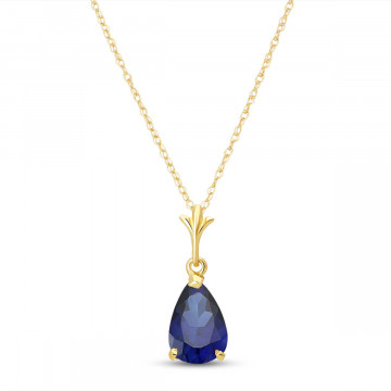 Sapphire Belle Pendant Necklace 1.5 ct in 9ct Gold