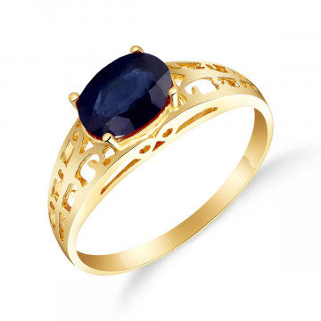 Sapphire Catalan Filigree Ring 1.15 ct in 9ct Gold