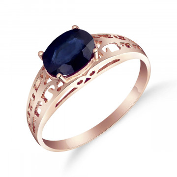 Sapphire Catalan Filigree Ring 1.15 ct in 9ct Rose Gold