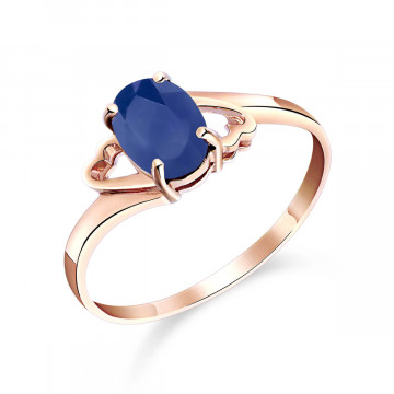 Sapphire Classic Desire Ring 1 ct in 9ct Rose Gold