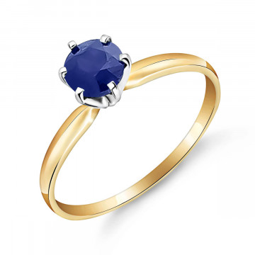 Sapphire Crown Solitaire Ring 0.65 ct in 9ct Gold