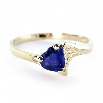 Sapphire Devotion Ring 1 ct in 9ct Gold