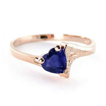Sapphire Devotion Ring 1 ct in 9ct Rose Gold