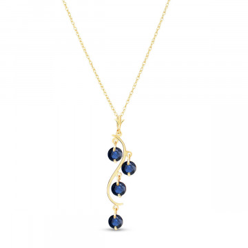 Sapphire Dream Catcher Pendant Necklace 2 ctw in 9ct Gold