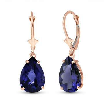 Sapphire Drop Earrings 9.3 ctw in 9ct Rose Gold