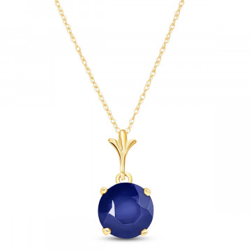 Sapphire Drop Pendant Necklace 1.65 ct in 9ct Gold