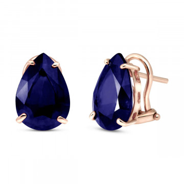 Sapphire Droplet Stud Earrings 9.3 ctw in 9ct Rose Gold