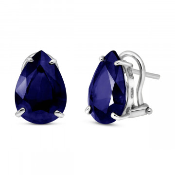 Sapphire Droplet Stud Earrings 9.3 ctw in 9ct White Gold