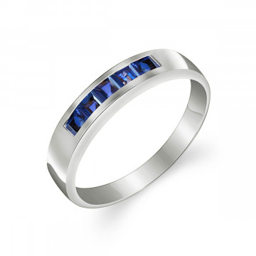 Sapphire Princess Prestige Ring 0.6 ctw in 9ct White Gold