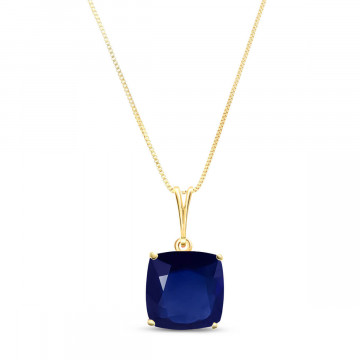 Sapphire Rococo Pendant Necklace 4.83 ct in 9ct Gold