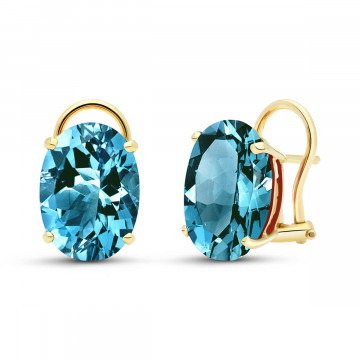 Sapphire Stud Earrings 17 ctw in 9ct Gold