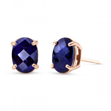 Sapphire Stud Earrings 2 ctw in 9ct Rose Gold