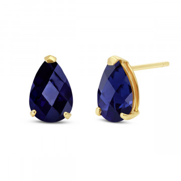 Sapphire Stud Earrings 3 ctw in 9ct Gold