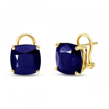 Sapphire Stud Earrings 9.66 ctw in 9ct Gold