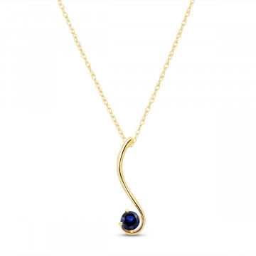 Sapphire Swish Pendant Necklace 0.55 ct in 9ct Gold