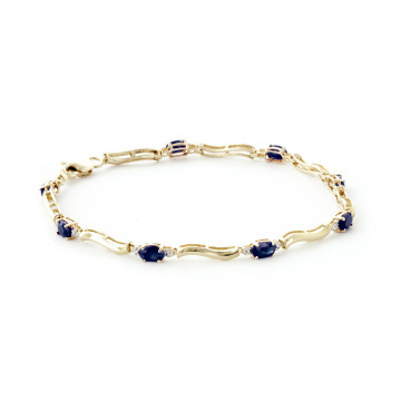 Sapphire Tennis Bracelet 2.01 ctw in 9ct Gold