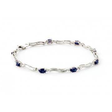 Sapphire Tennis Bracelet 2.01 ctw in 9ct White Gold