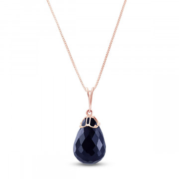 Sapphire Tiara Pendant Necklace 14.8 ct in 9ct Rose Gold