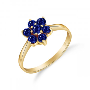 Sapphire Wildflower Cluster Ring 0.66 ctw in 9ct Gold