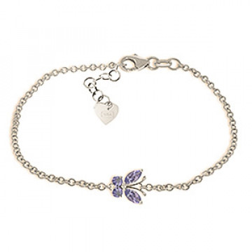 Tanzanite Adjustable Butterfly Bracelet 0.6 ctw in 9ct White Gold