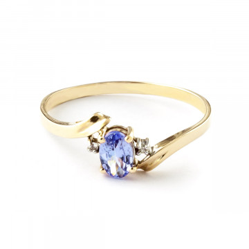 Tanzanite & Diamond Embrace Ring in 9ct Gold