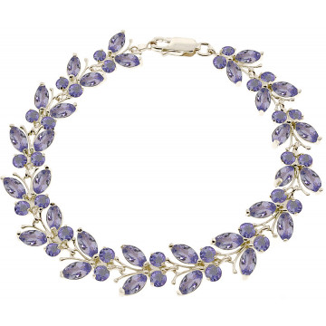 Tanzanite Butterfly Bracelet 7.8 ctw in 9ct White Gold