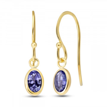 Tanzanite Drop Earrings 1 ctw in 9ct Gold