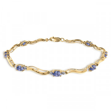 Tanzanite Tennis Bracelet 2.01 ctw in 9ct Gold