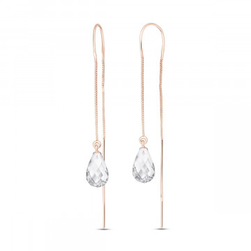 White Topaz Scintilla Earrings 4.5 ctw in 9ct Rose Gold