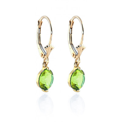 9ct Gold Peridot Oval long Drop earrings 7mIGx0Og8