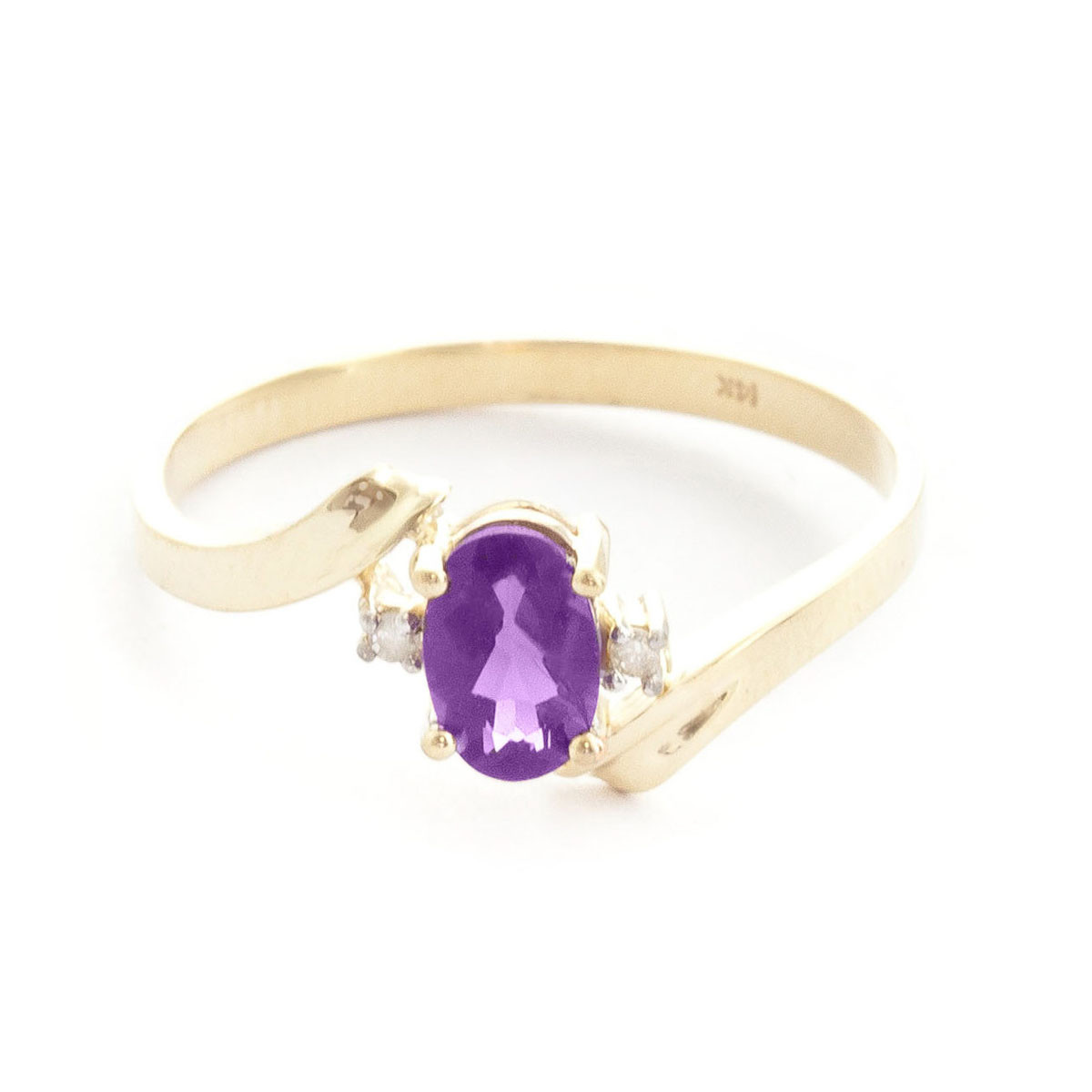 Amethyst & Diamond Embrace Ring in 9ct Gold