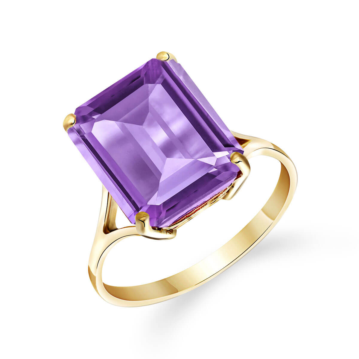 Amethyst Auroral Ring 6.5 ct in 9ct Gold