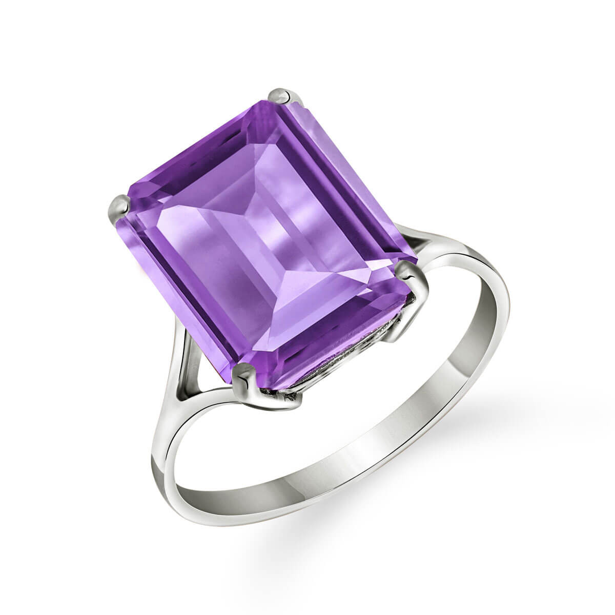 Amethyst Auroral Ring 6.5 ct in 9ct White Gold