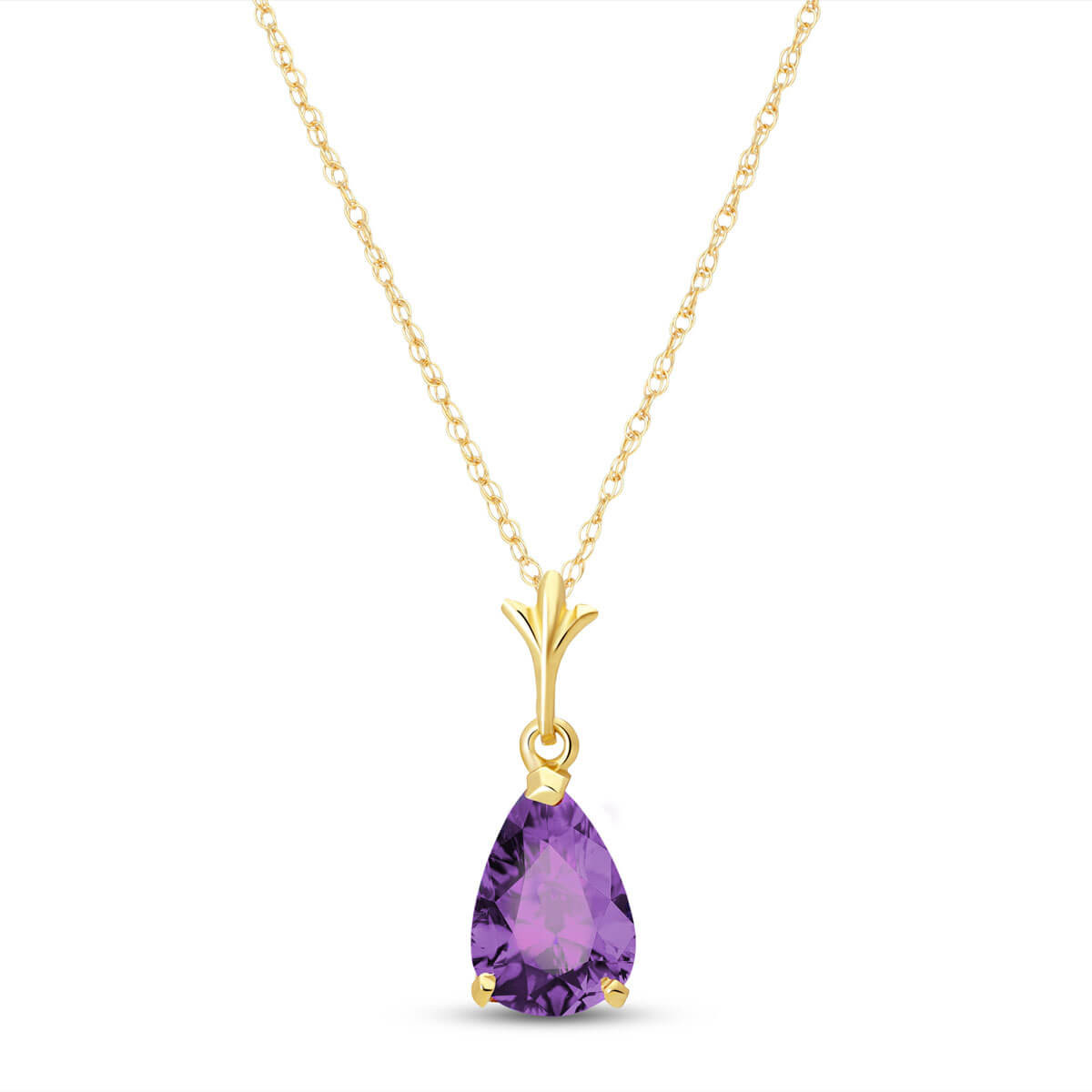Amethyst Belle Pendant Necklace 1.5 ct in 9ct Gold